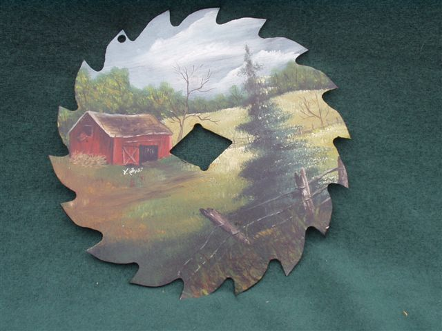 Spring's Coming - Handpainted Saw Blade
